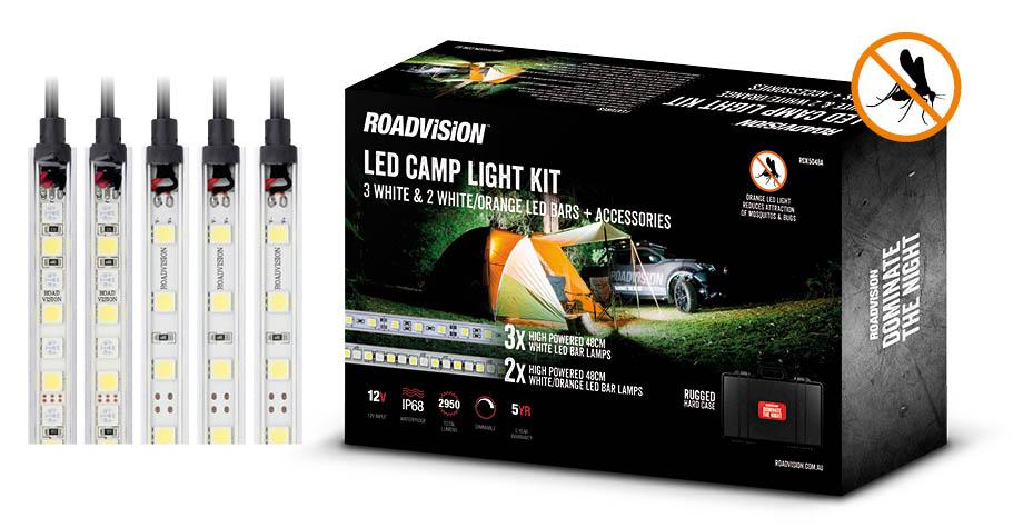 5 Piece White/Orange LED Camp Light Kit - Roadvision